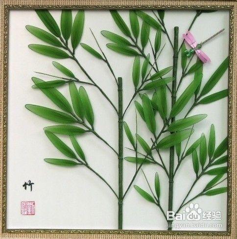 丝网花竹子制作图片