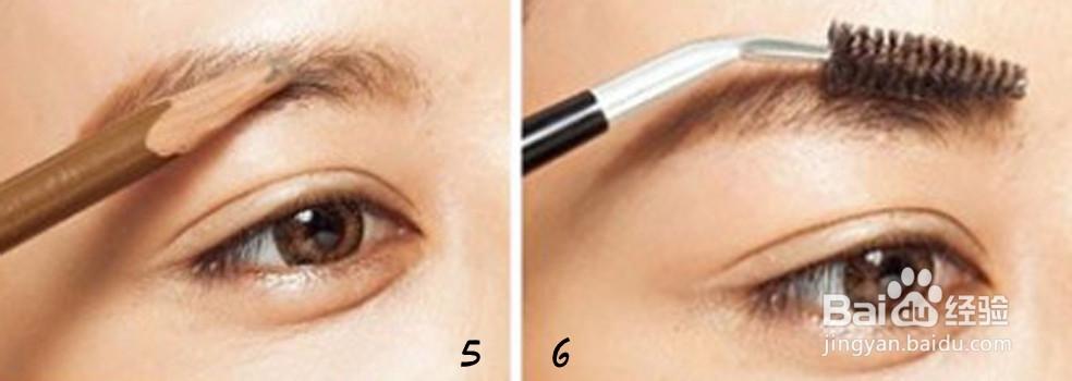 韩式一字眉的正确画法图片