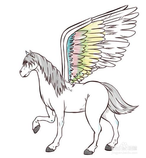 怎样画会飞的马天马?铅笔画天马教程
