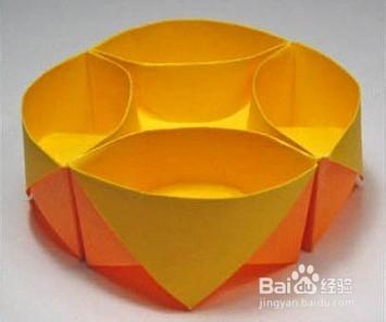折纸盒子收纳盒的做法教程