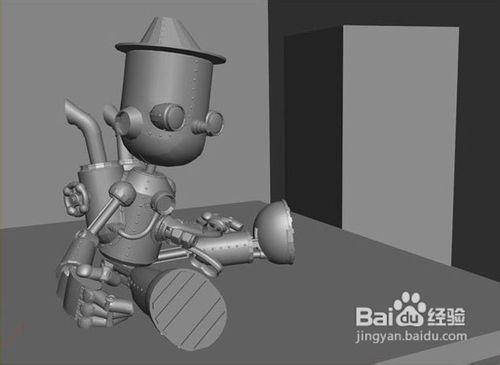 maya打造童话中的小机器人场景高清图片