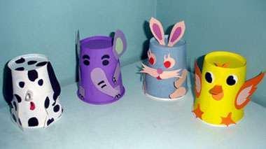 幼儿园手工制作:纸杯动物的手工制作方法图片