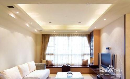 简欧风客厅装修效果图2    简欧个性的客厅装饰,客厅选用素色的布艺