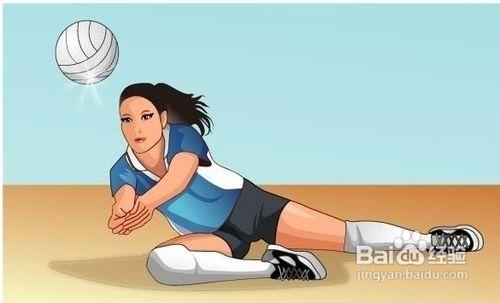 排球正面双手下手垫球练习方法 高清图片