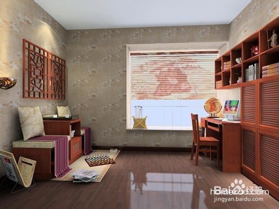 新中式风格书房_现代中式风格书房图片