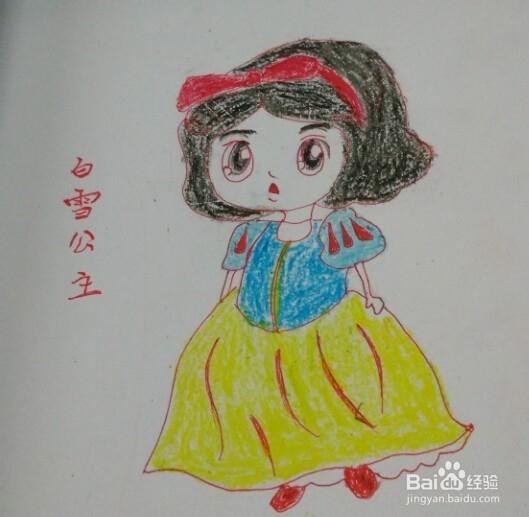 简笔画【可爱白雪公主】的画法