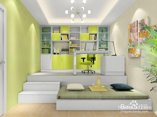 现代简约小户型高低床榻榻米式卧室装修效果图2013图片,高