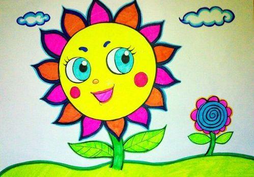 儿童画绘画技巧图片