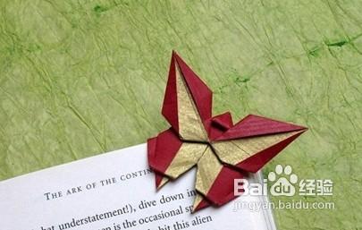 蝴蝶书签图解做法-自制折纸书签图片图片大全 折纸书签成品展示图片