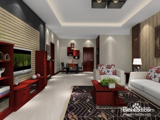 新中式家居设计客厅效果图