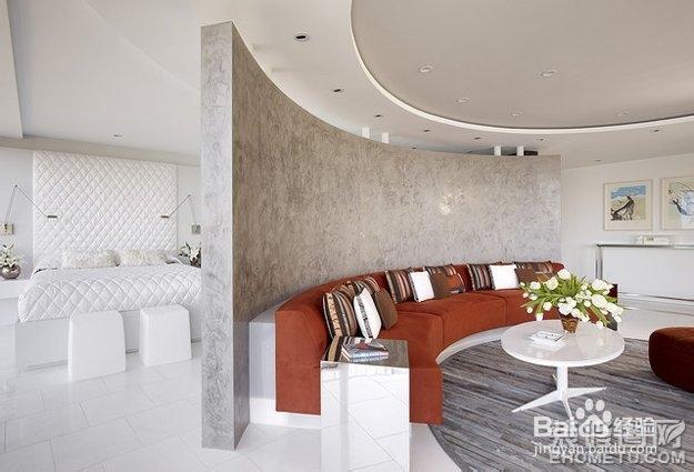 客厅与卧室隔断设计,无论是整个造型还是细节的装潢,都让人眼