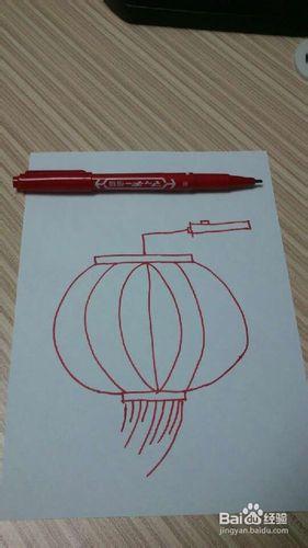 红灯笼儿童画_红灯笼怎么画-儿童简笔画