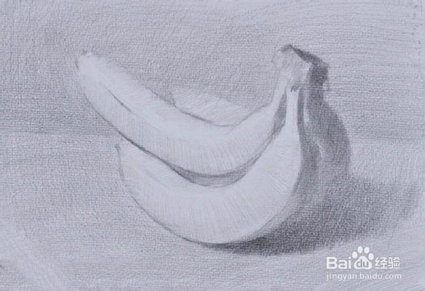 香蕉的结构素描与明暗素描 图文图片