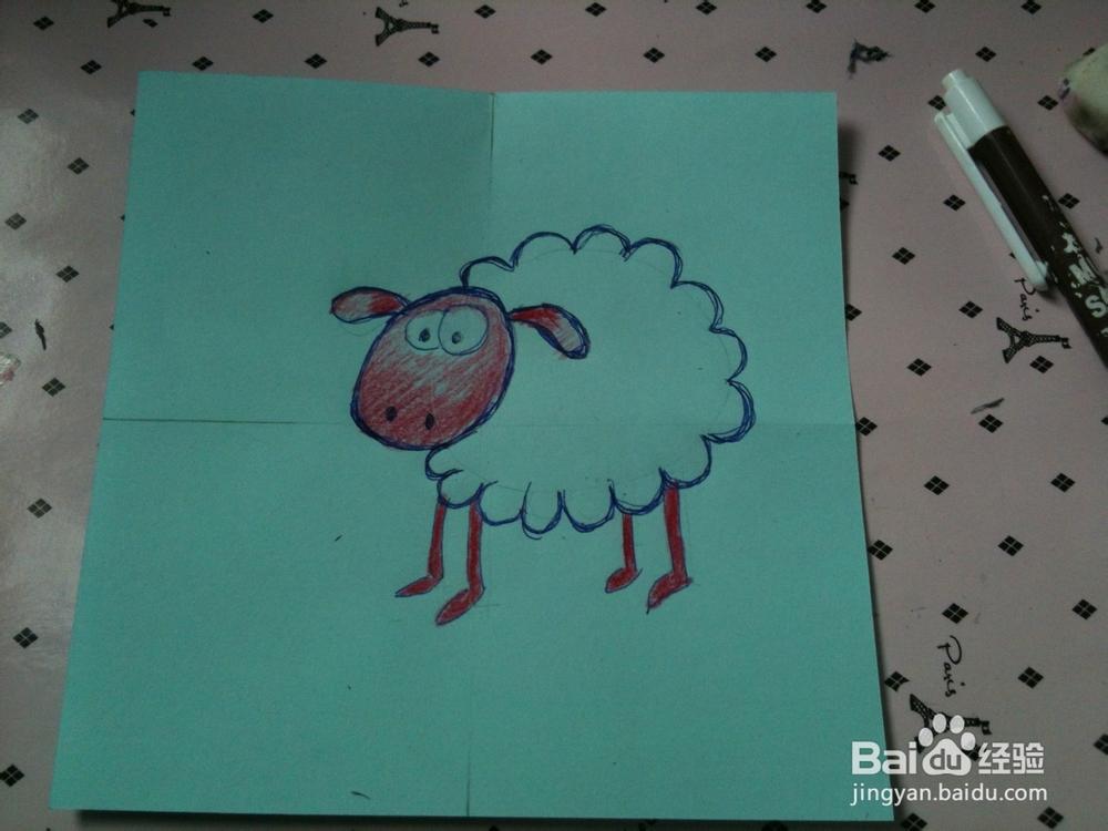 简笔画画小绵羊