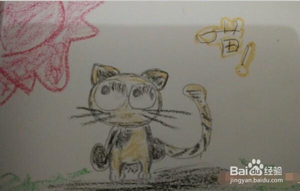 简笔画:阳光下的小花猫
