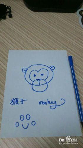 孙猴子 儿童简笔画