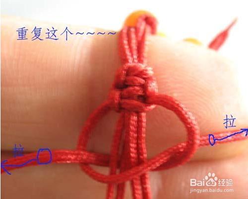 编手绳教程图解-百度_编手链的方法图解教程