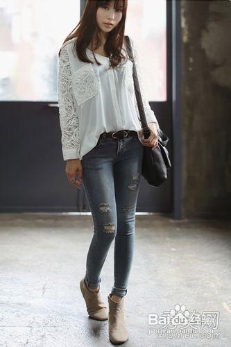 衬衫搭配牛仔裤极简穿法秀出好身材 竖