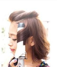 利用卷发棒五步做好最潮发型图片