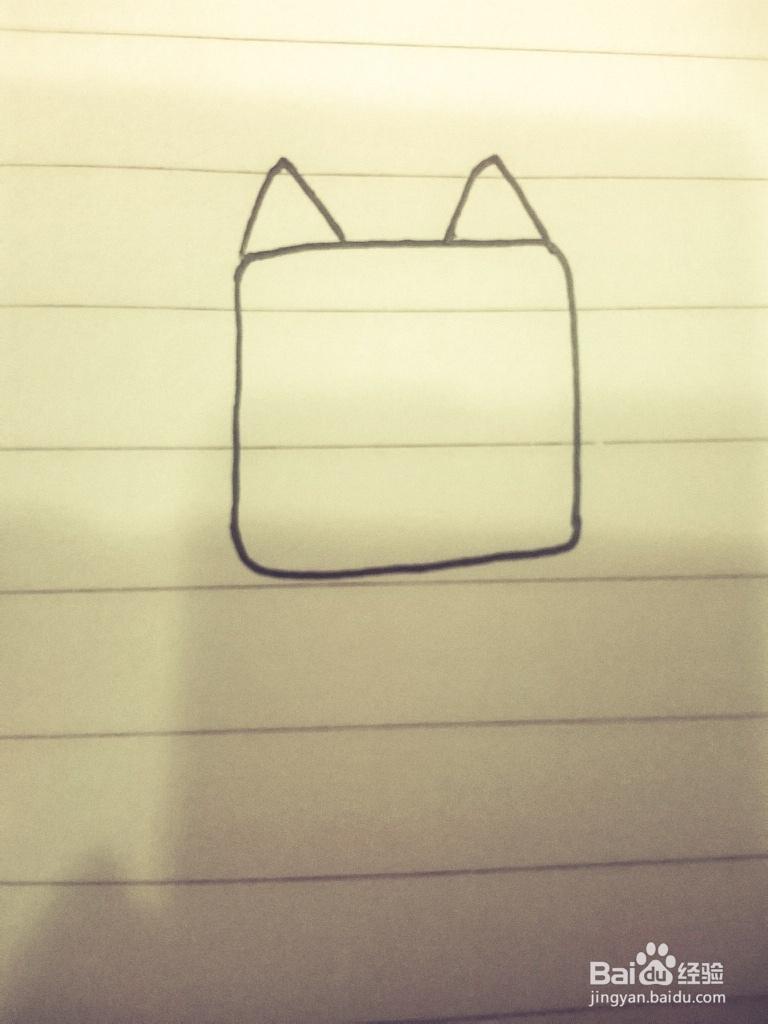 如何画简笔画之可爱小猫咪