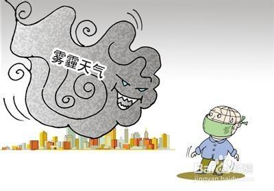 雾霾天气漫画图片