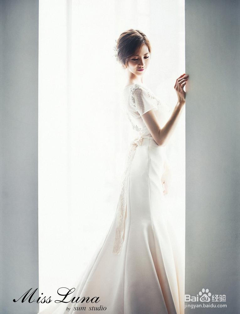2013年韩式婚纱照新娘发型图片