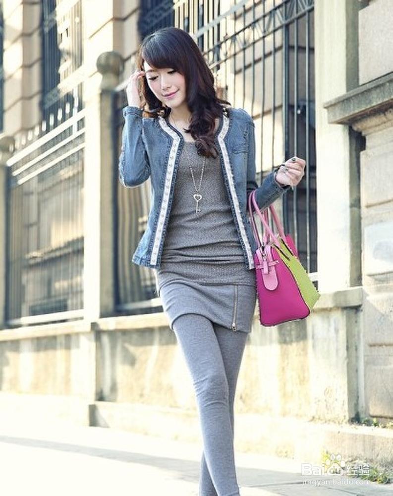 帅气牛仔衣 穿出潮女新时尚图片