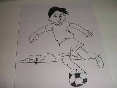 关于踢足球的画-7_关于踢足球的画,踢足球的画