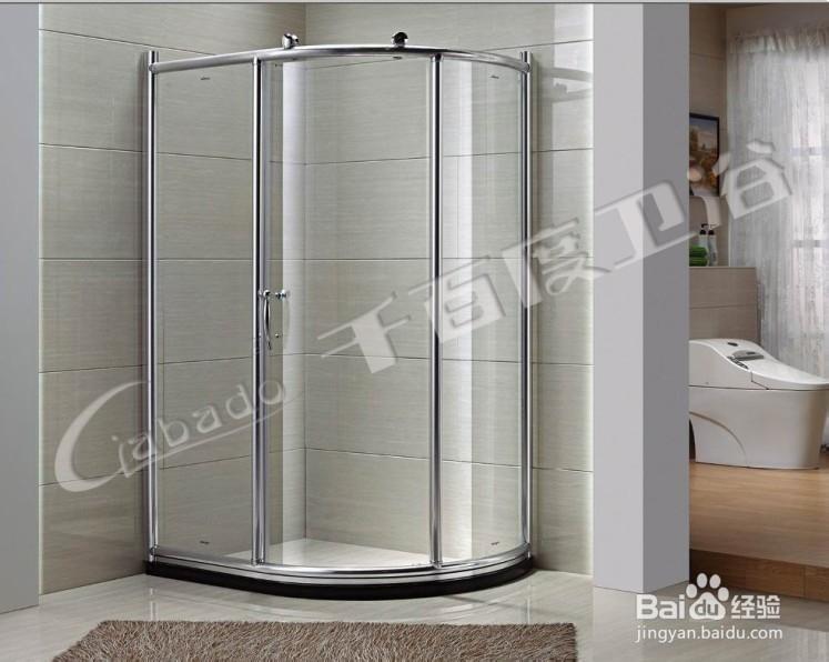 千百度卫浴新款刀型推拉式淋浴房,简易易洁型,可非标任意定高清图片