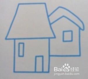 小房子的简笔画画法