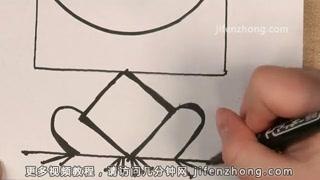 【儿童节】正方形简笔画|野猪|青蛙|老鼠