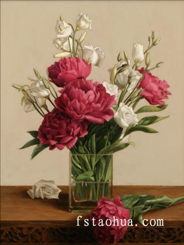 花卉油画超写实主义油画静物 jpg高清图片
