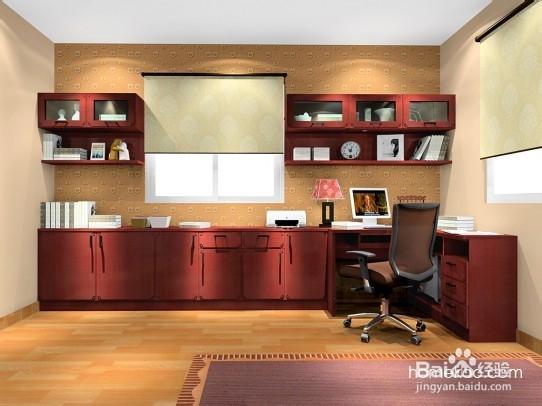 中式风格书房装修图片大全,家庭办公读书味道十足的书房设