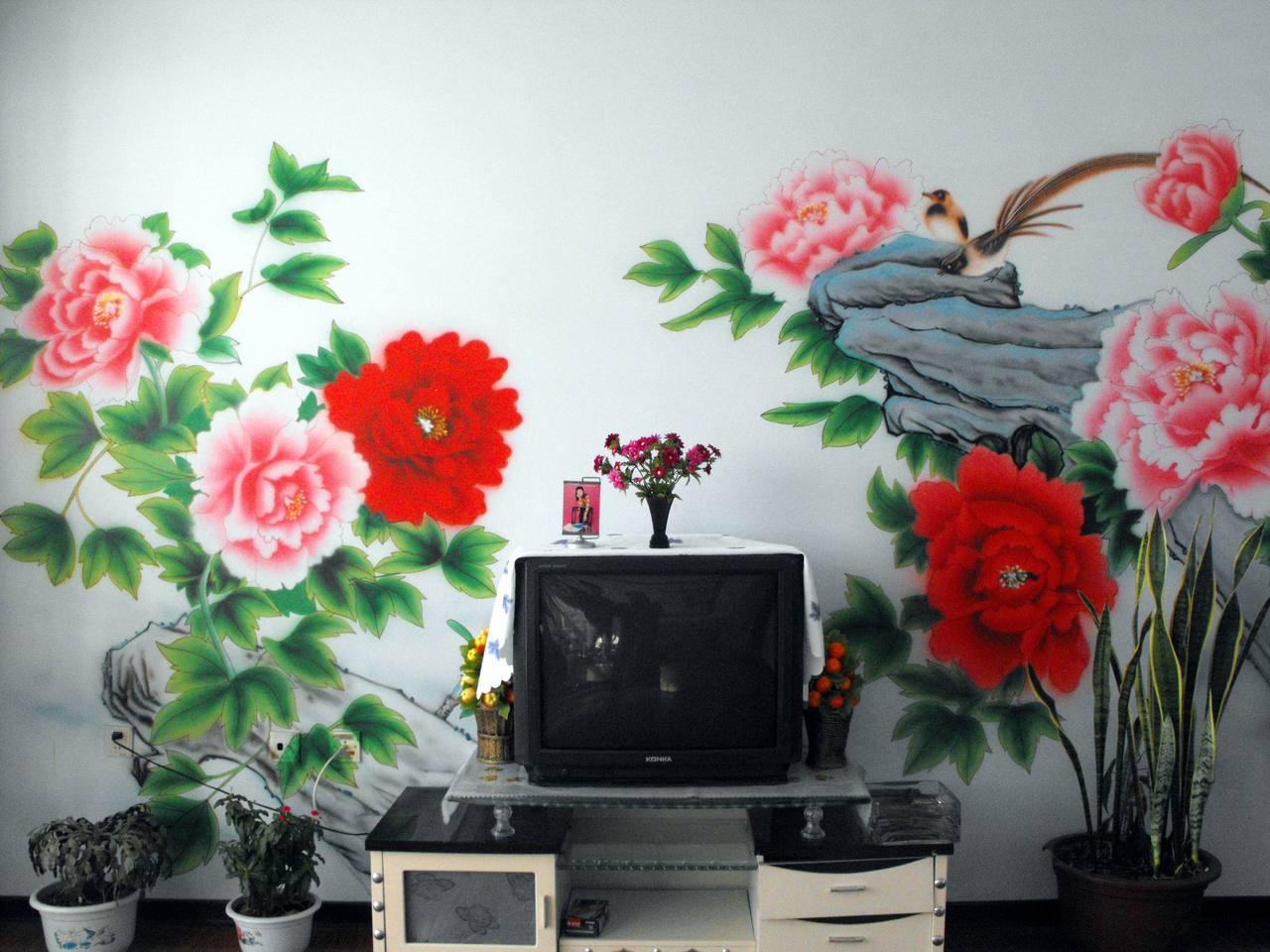家庭设计因此墙体彩绘也由此孕育而生. 轻装修重装饰,已经成高清图片