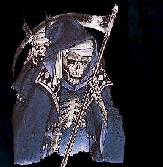 「死神与少女; 冥神纹身;图片