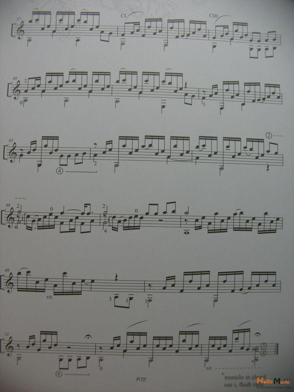 古典练习曲谱 杨雪菲anak 新乡吉他吧 百度贴吧 高清图片