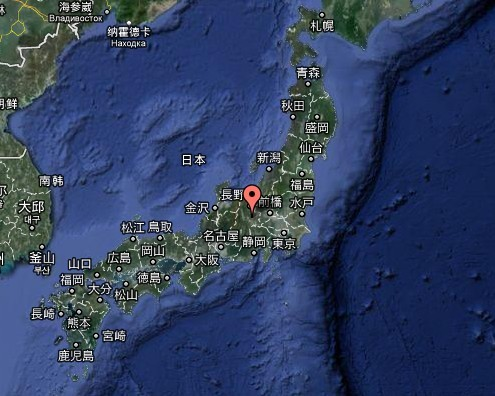 日本地图高清中文版 小水牛