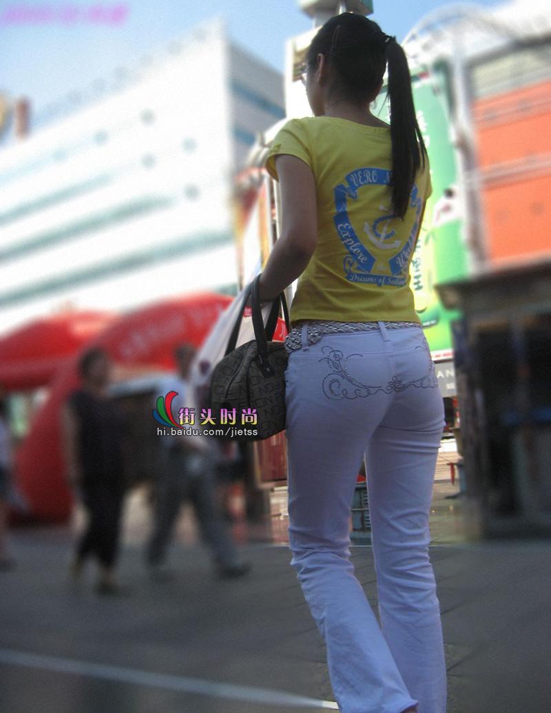 窈窕的白裤紧臀mm