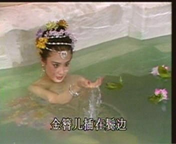 】古装剧里女子沐浴图
