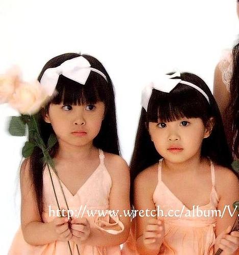 台湾双胞胎小美女近照