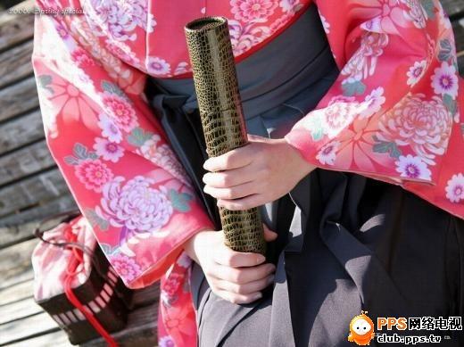 和服日本少女 河内竹庄