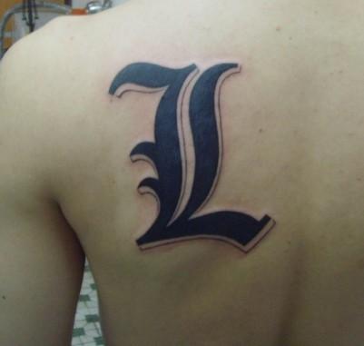 l字母纹身设计图分享展示图片