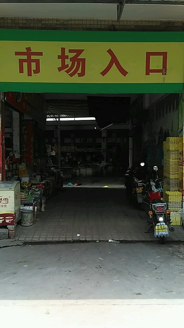 南村村肉菜市场