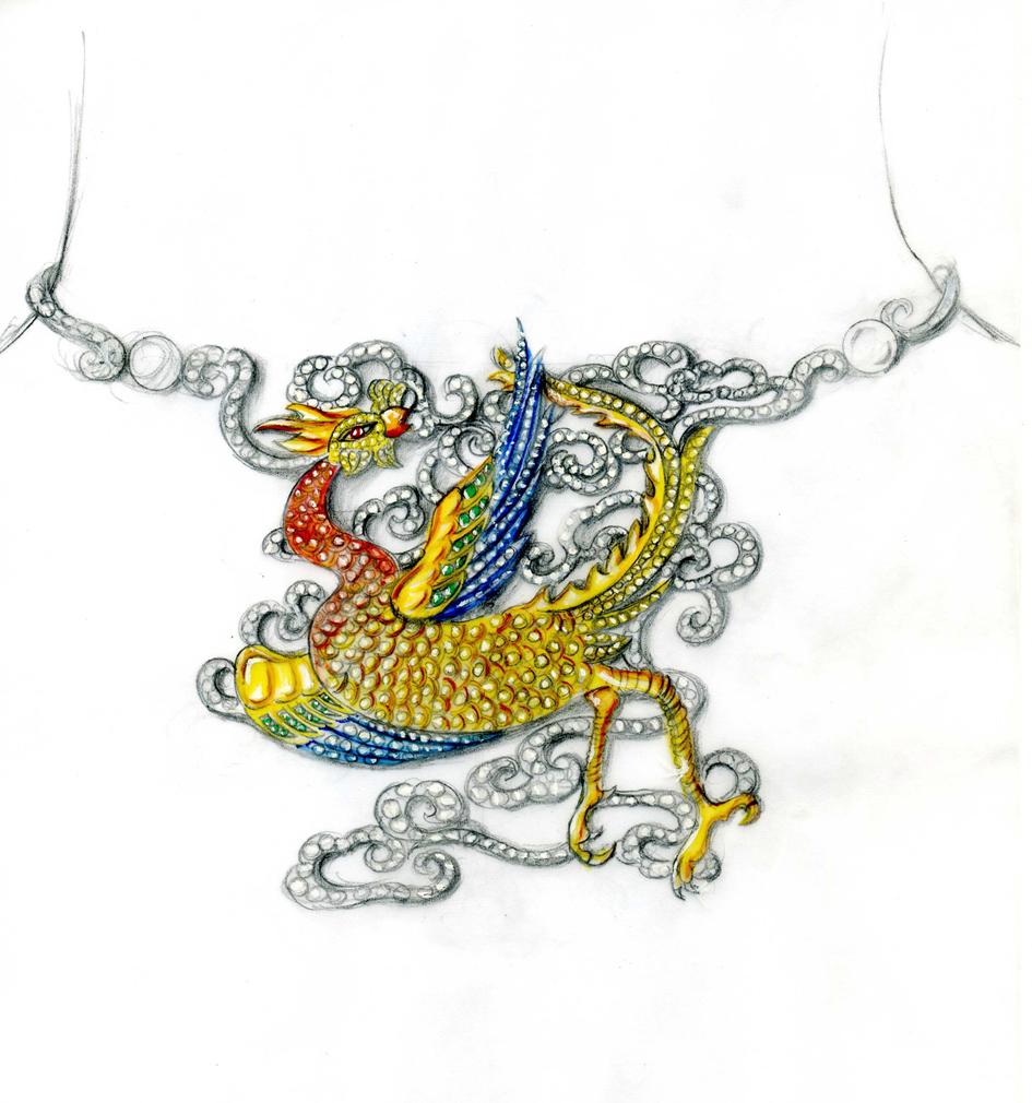 传统文化入珠宝首饰设计手稿