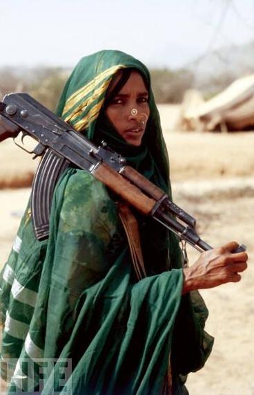 非洲厄立特里亚的穆斯林战士
