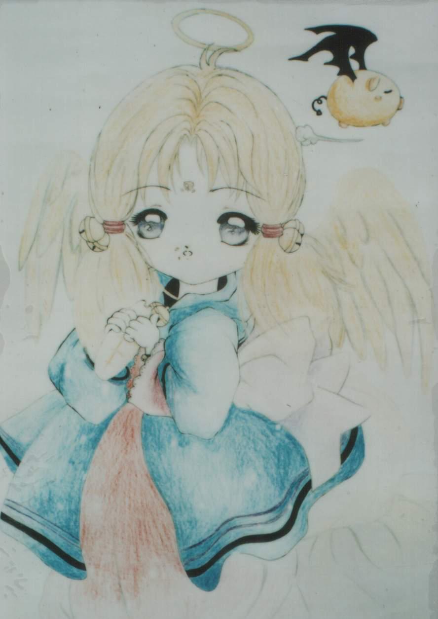 当时我在念高中三年级,这幅画是在校园画展里参赛的,获得了二等奖.图片
