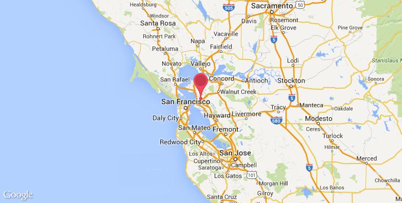 加州艺术学院旅游地图