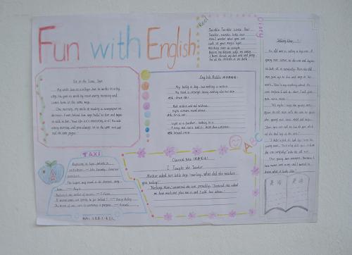 六年级简单又漂亮的英语手抄报图片