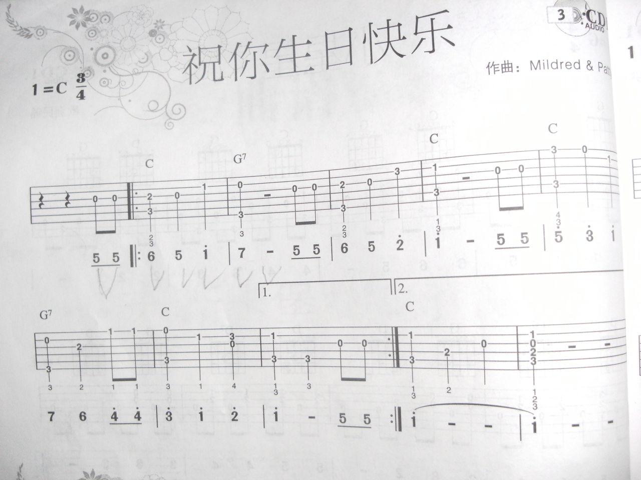 祝你生日快乐吉他_生日 快乐 简谱 生日 快乐 吉他 ...