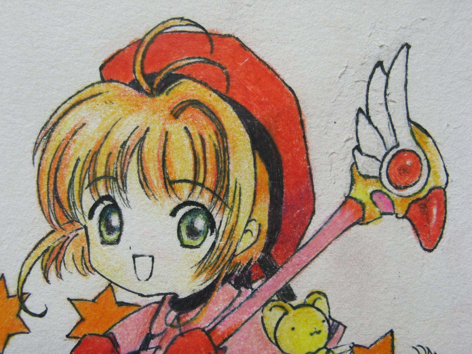 简单彩铅动漫少女画,用彩铅 画动漫人物 眼睛图片
